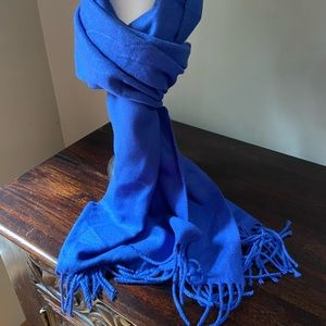 Bright blue scarf